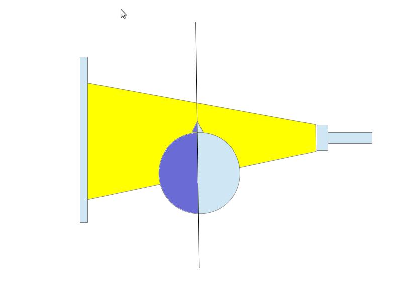 Experiment 9, Bild 1: Reflektiertes Licht beleuchtet das Gesicht