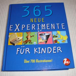 """Buch """"365 neue Experimente für Kinder"""", von vorn"""