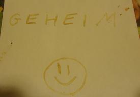 Experiment 42, Bild 2: Mit Geheimtinte geschriebenes.