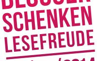 """Logo """"Blogger schenken Lesefreude 2014"""""""