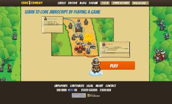"""Screenshot Online-Spiel """"Code Combat"""""""