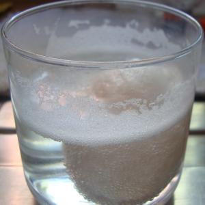 Experiment 47, Bild 2: Ein Ei aus Gummi - Es bilden sich Gasbläschen und steigen auf